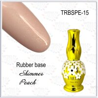 TARTISO RUBBER BASE 15ml Каучуковая база SHIMMER PEACH