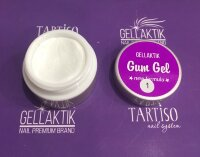 GELLAKTIK GUM GEL NEW FORMYLA  WHITE  7гр.